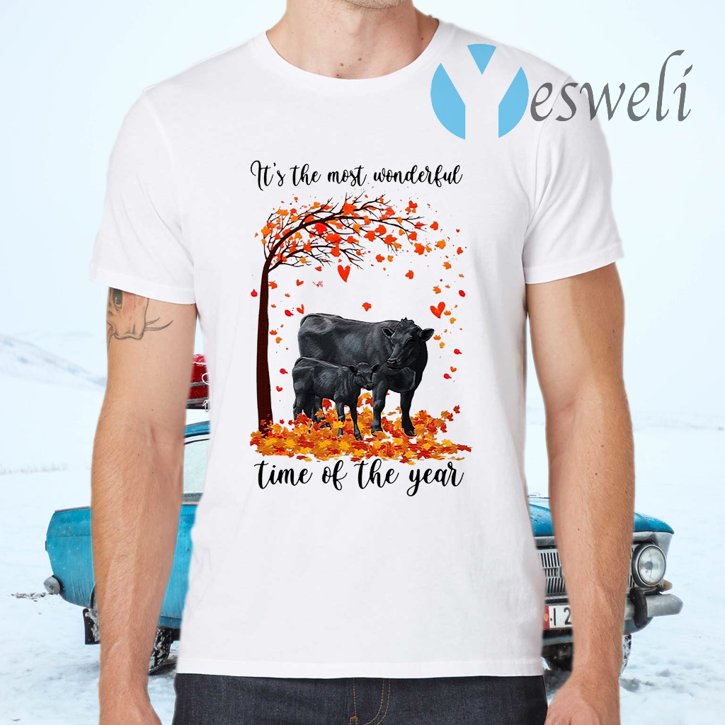 Angus cow its the most wonderful time of the year halloween tree T-Shirts