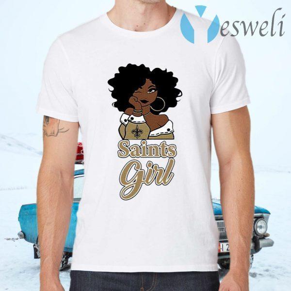 Black Girl Oklahoma Saints T-Shirts