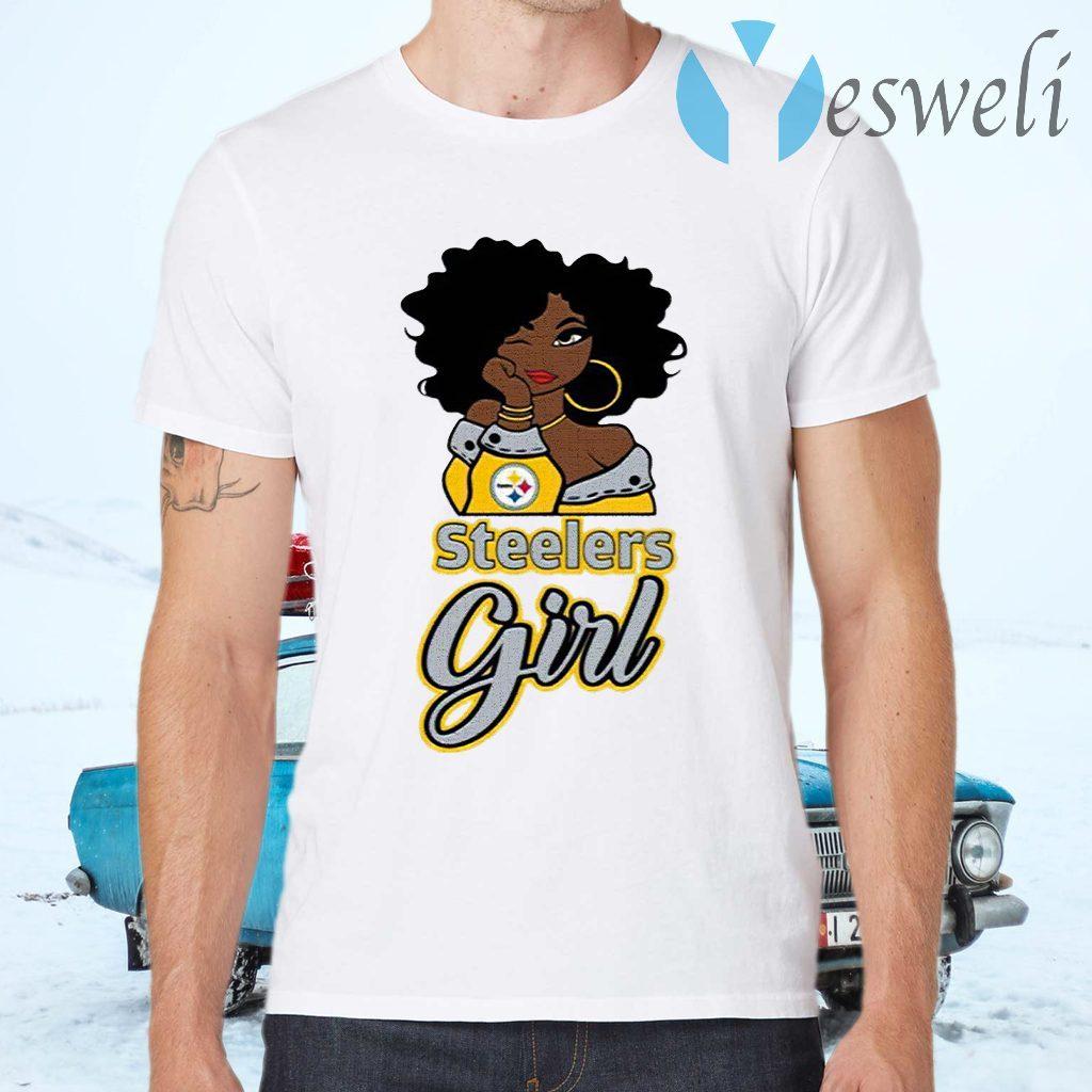 Black Girl Pittsburgh Steelers T-Shirts