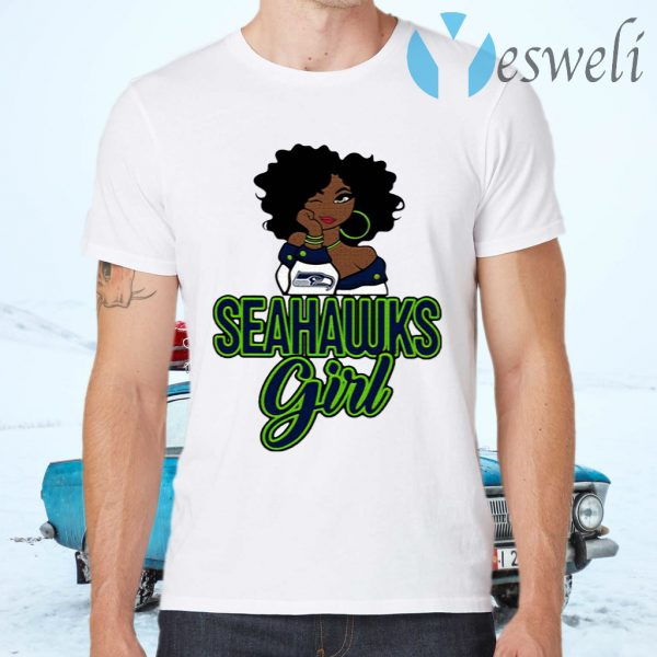 Black Girl Seattle Seahawks T-Shirts