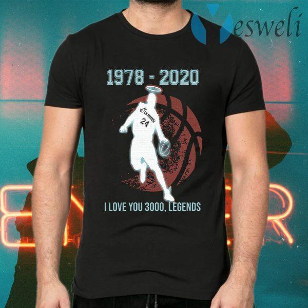 Black Mamba 1978 2020 I love you 3000 legends T-Shirts