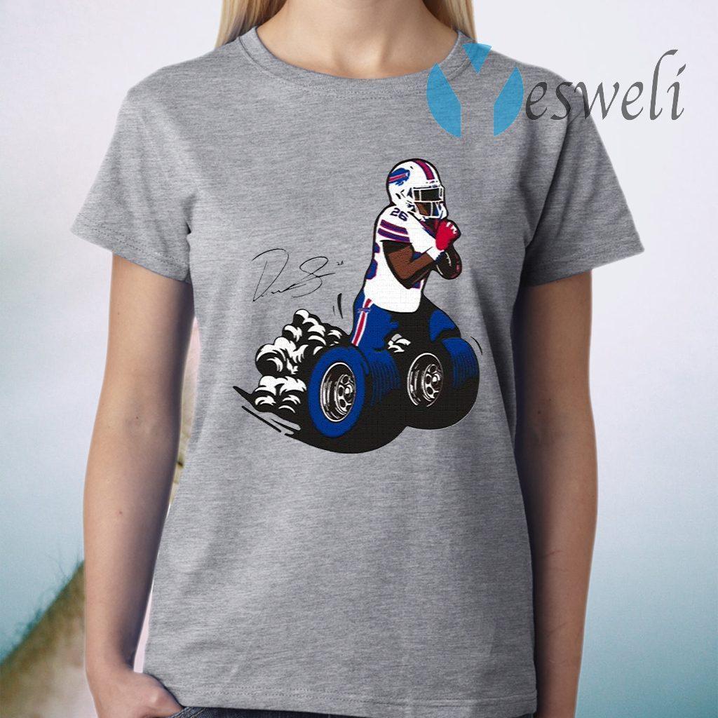 Buffalo Bills Fan Box Devin Singletary Motor T-Shirt