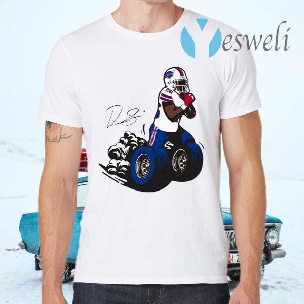 Buffalo Bills Fan Box Devin Singletary Motor T-Shirts