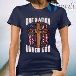 Chicago Bears One Nation Under God Cross T-Shirt