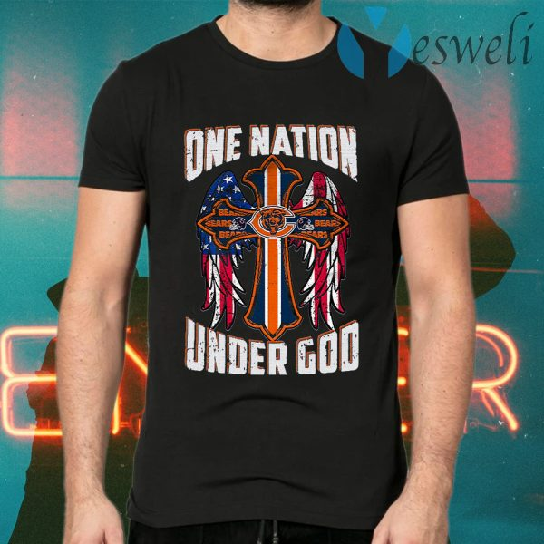 Chicago Bears One Nation Under God Cross T-Shirts