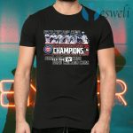 Chicago CUBS NL central Division 2020 champions Fly the MLB T-Shirts