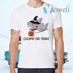 Chomp or Treat Shark Witches Halloween T-Shirts