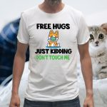 Corgi face mask free hugs just kidding don't touch me T-Shirts