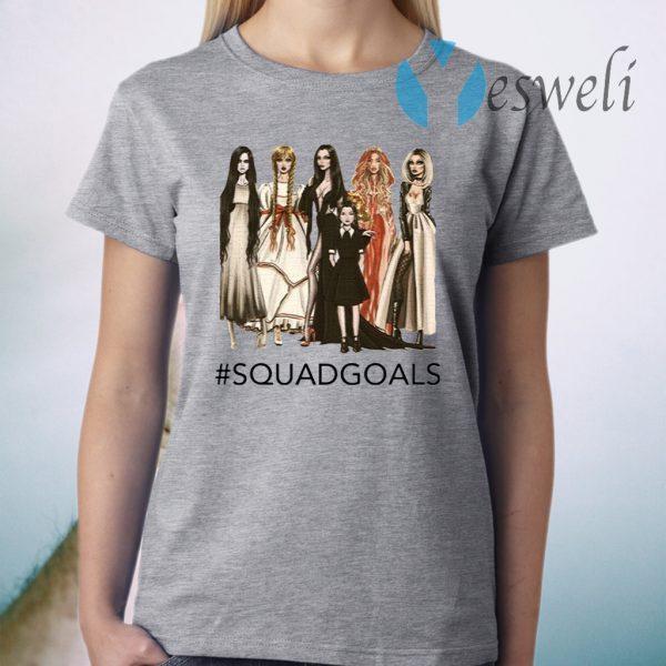 Halloween Squad Goals Samara, Annabelle, Morticia T-Shirt