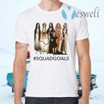 Halloween Squad Goals Samara, Annabelle, Morticia T-Shirts