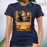 Horror Characters Halloween Is My Christmas T-Shirt