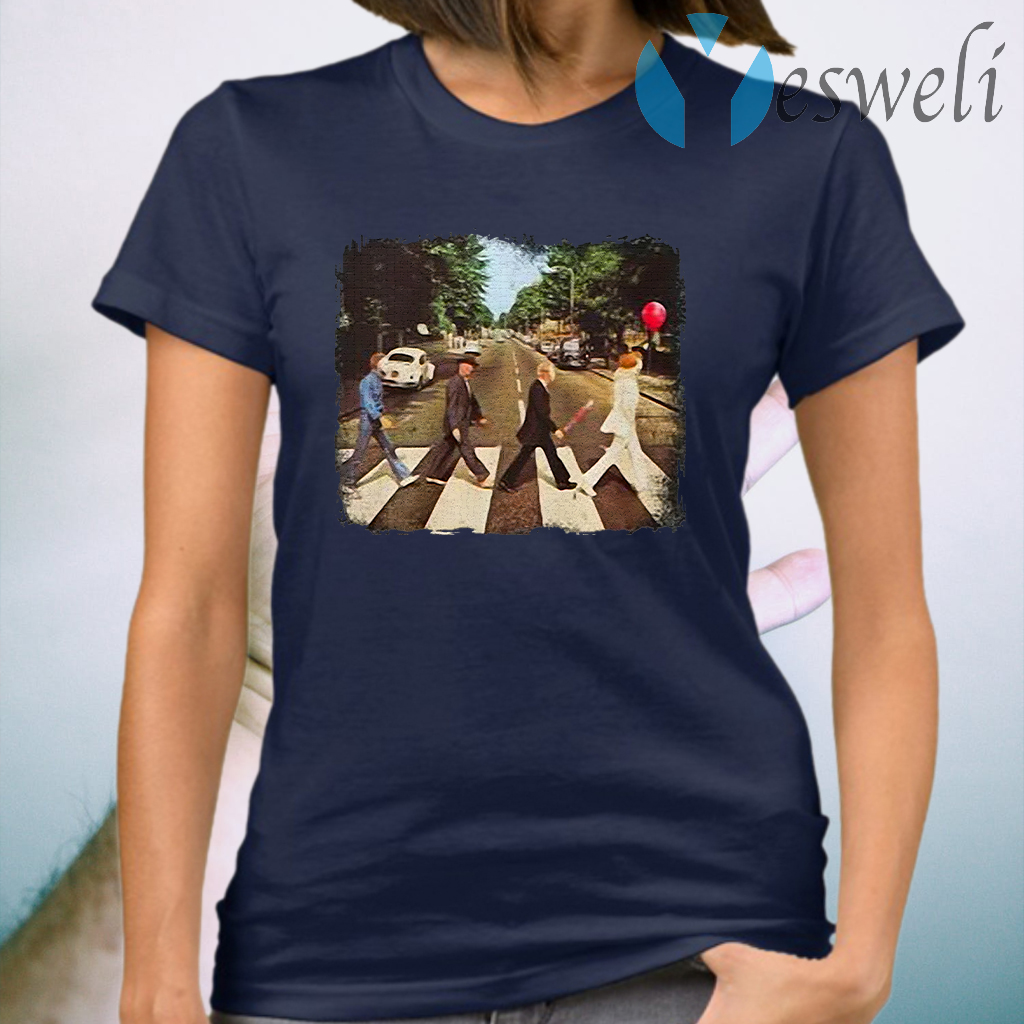 Horror movie characters abbey road halloween T-Shirts
