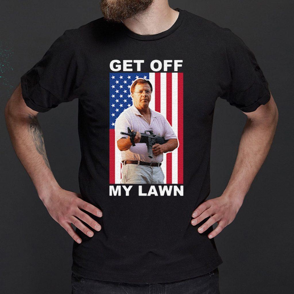 Ken And Karen Get Off My Lawn Us Flag Shirt