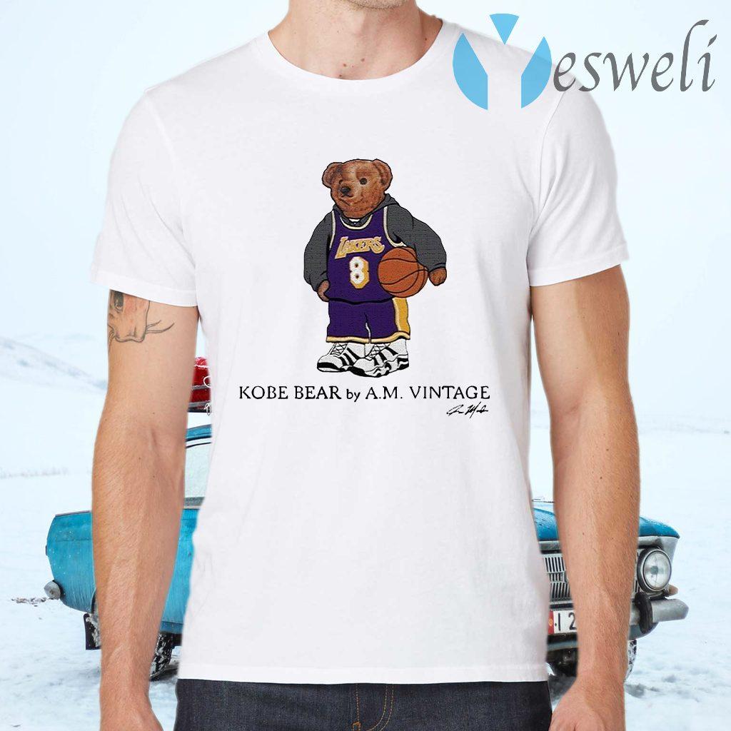 Kobe Bear by A.M vintage signature T-Shirts