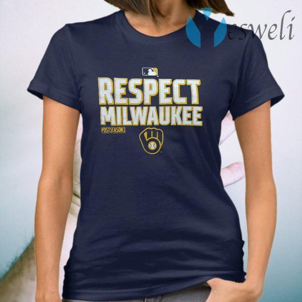 Milwaukee Brewers Respect Postseason 2020 MLB T-Shirt