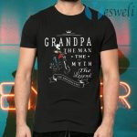 Motorcycle grandpa the man the myth the legend the bad influence T-Shirts