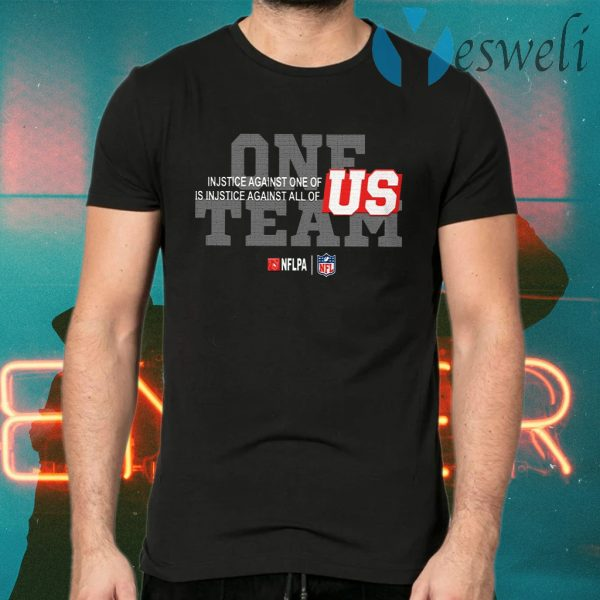 One Team NFL End Racism T-Shirts