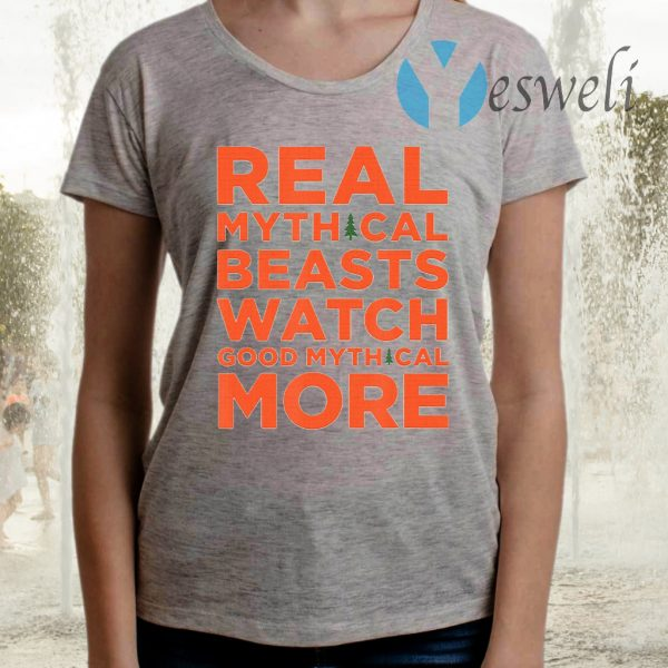 Real Mythical Beasts Watch Good Mythical More Retro TShirts
