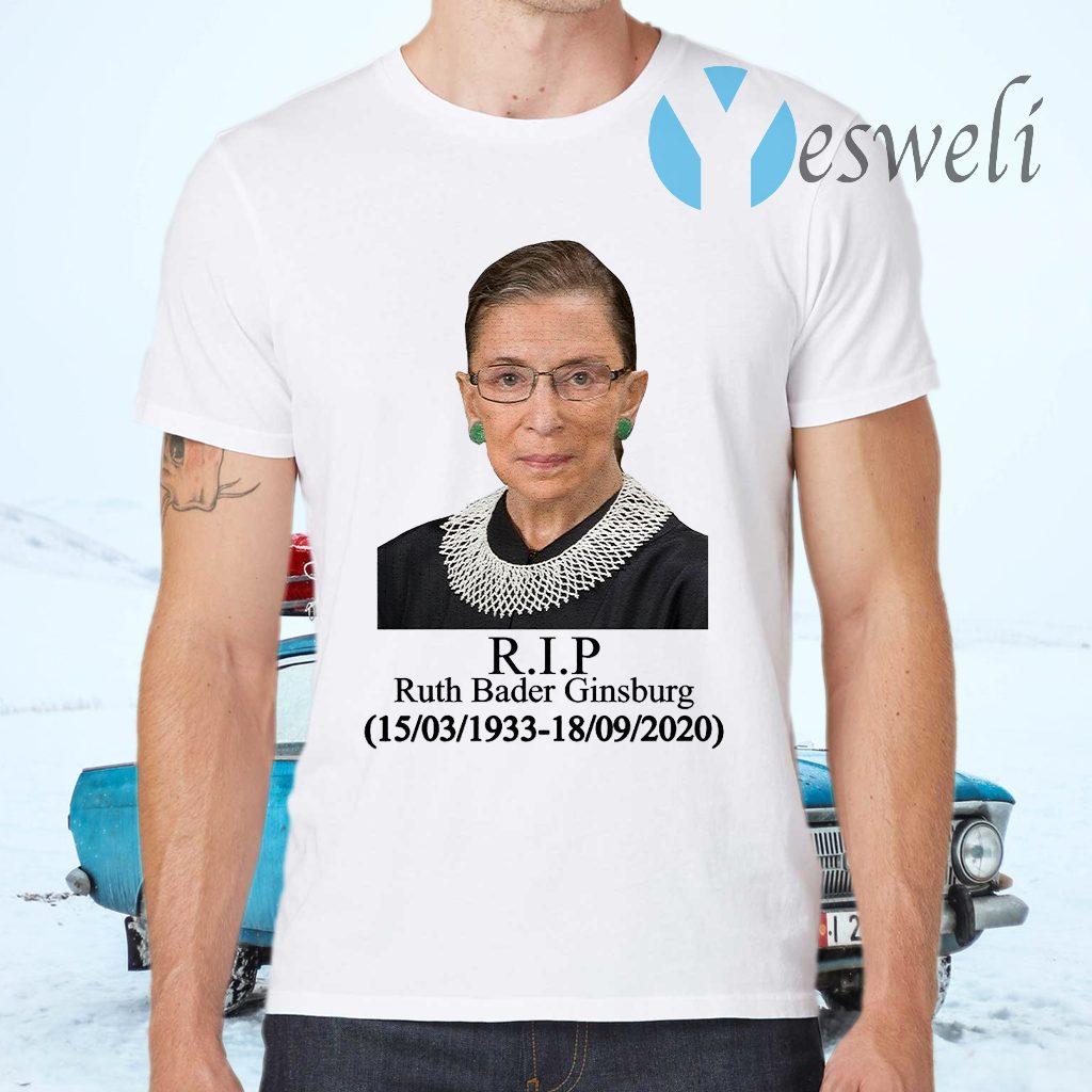 Ruth Bader Ginsburg R.I.P 1933-2020 T-Shirt