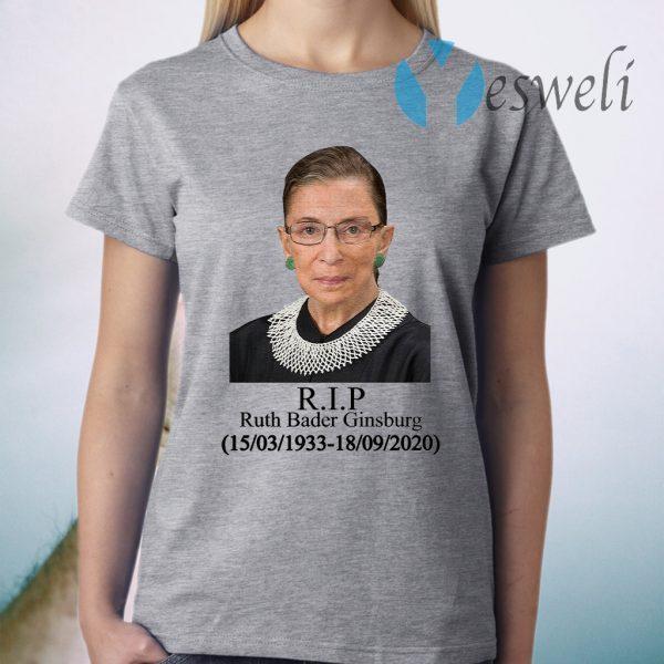 Ruth Bader Ginsburg R.I.P 1933-2020 T-Shirts