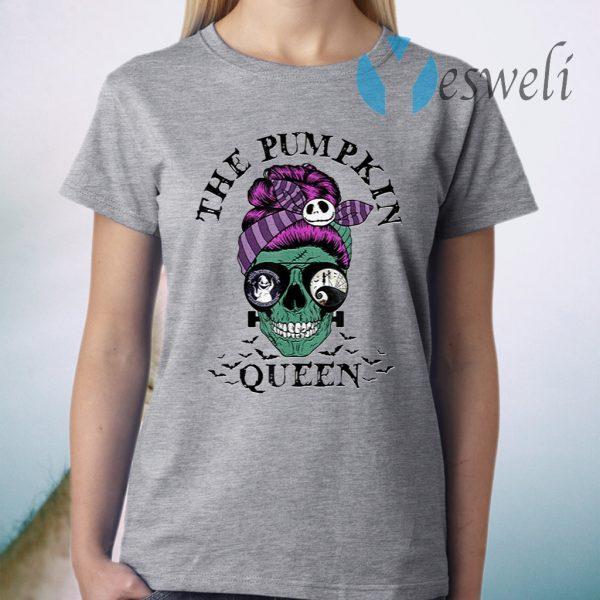 The Pumpkin Queen Skull Women T-Shirt