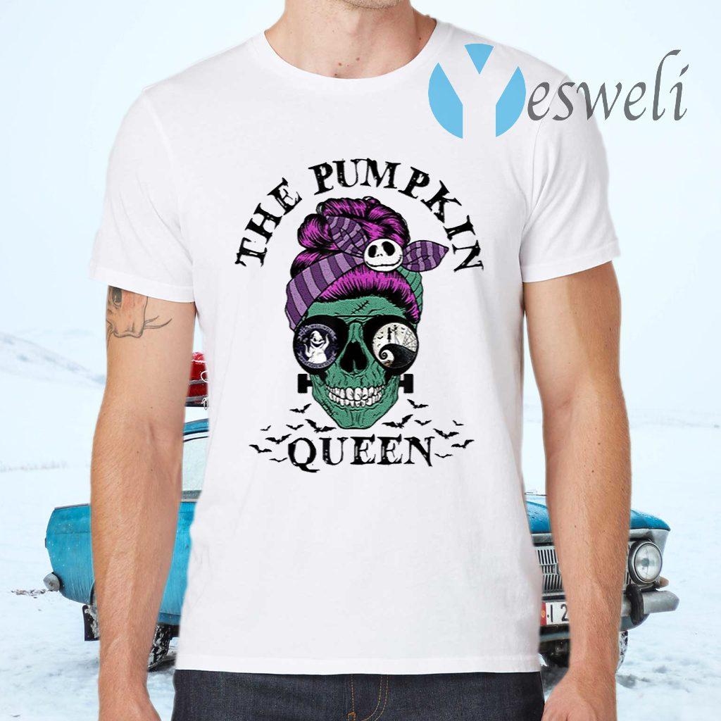 The Pumpkin Queen Skull Women T-Shirts