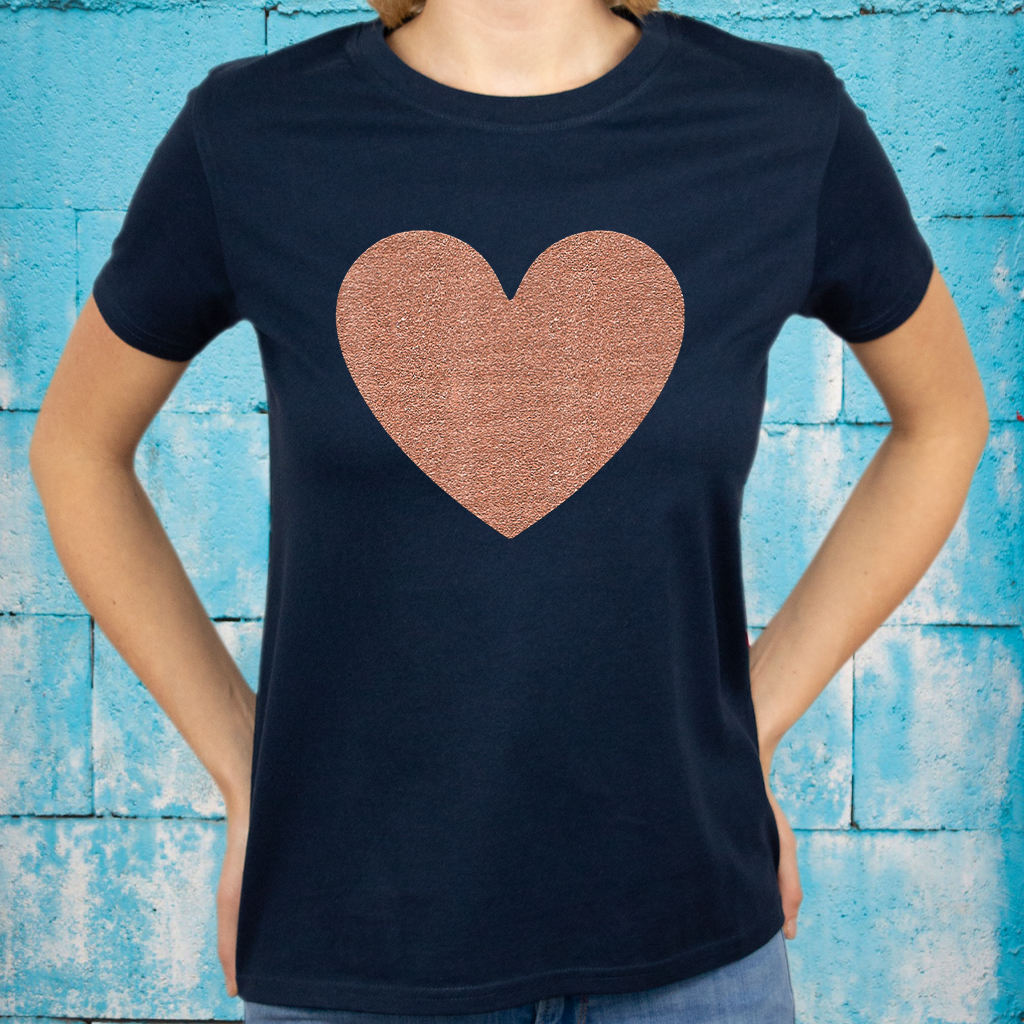 Valentine's Day Faux Rose Gold T-Shirt