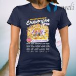 Western Conference Champions 2020 NBA Los Angeles Lakers signatures T-Shirt