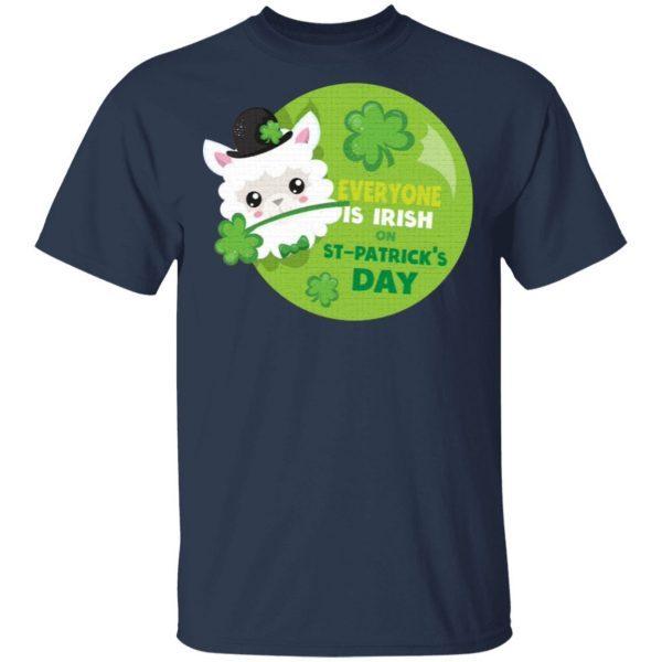 Kids St Patricks Day Everyone is Irish on St. Patrick's Day Llama T-Shirt