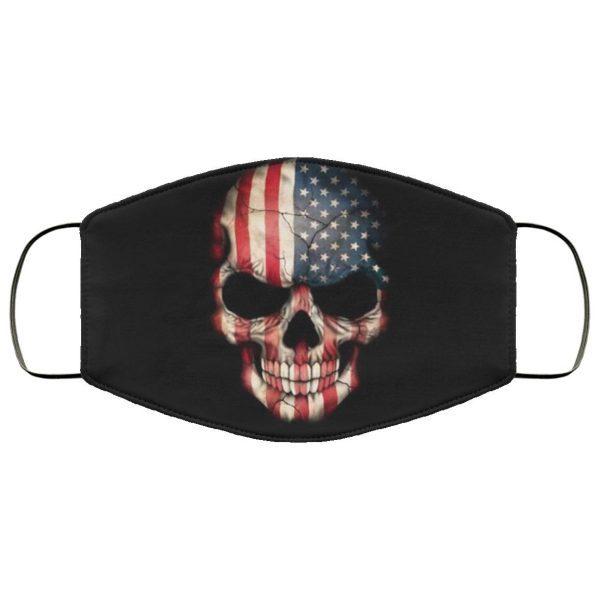 American Flag Skull Face Mask Filter PM2.5