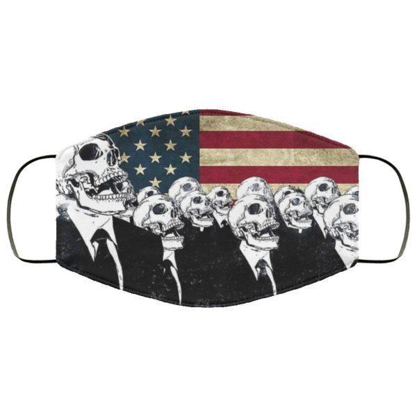 American Flag Skull Face Mask us PM2.5