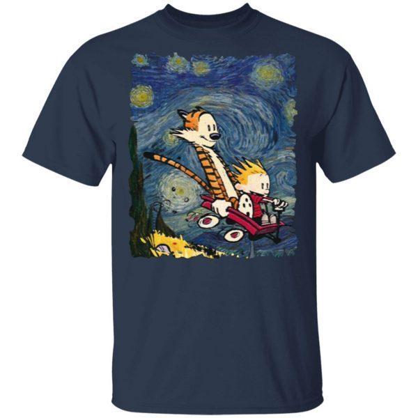 Calvin and hobbes stary night T-Shirt