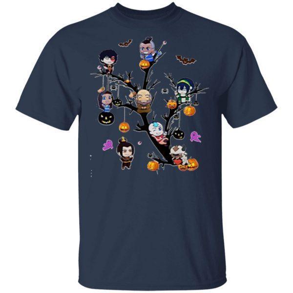 Halloween tree cartoon shirt