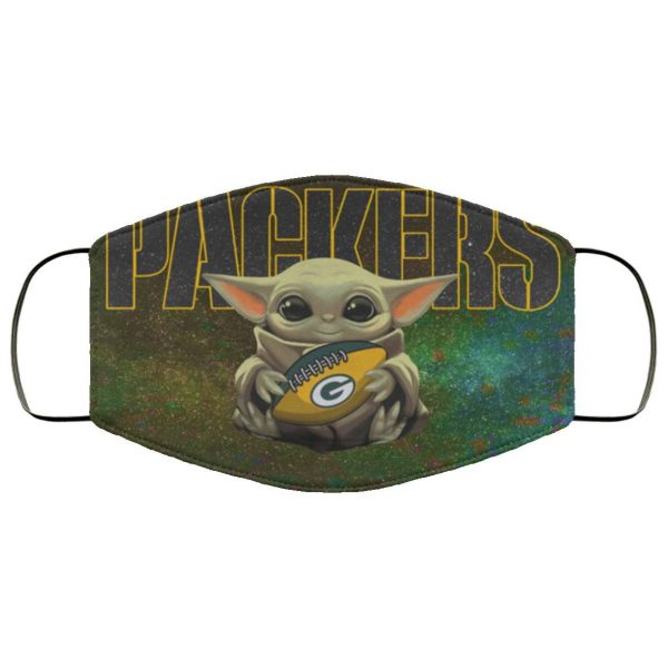 Baby Yoda Hugs Green Bay Packers Face Mask
