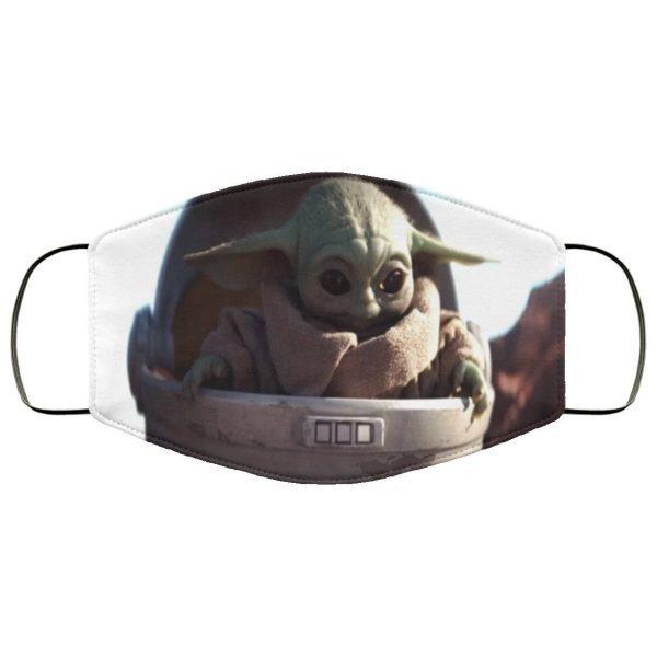 The Mandalorian Baby Yoda Face Mask