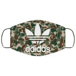 Bape Green Camo Adidas face mask