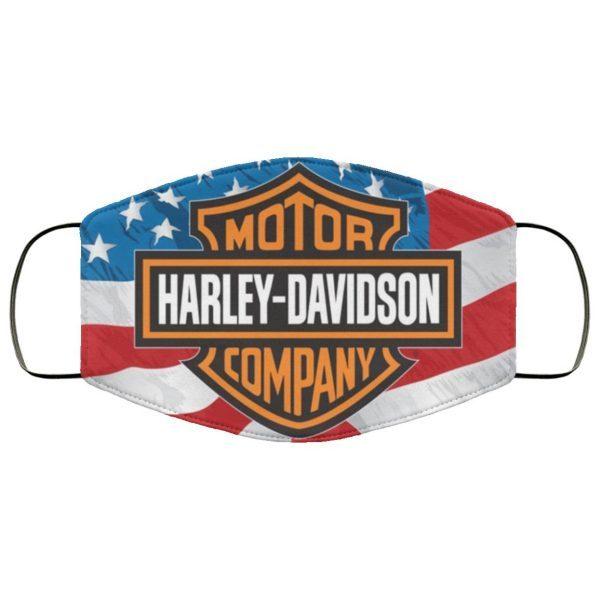 American flag harley davidson face mask