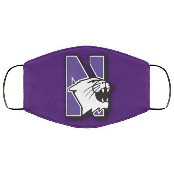 Northwestern Logo Football Face Mask