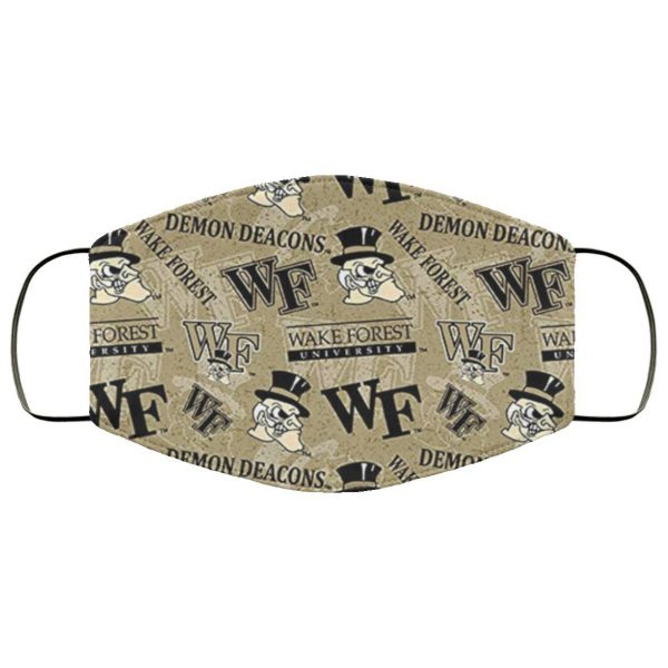 Wide Ncaa Wake Forest University Face Mask