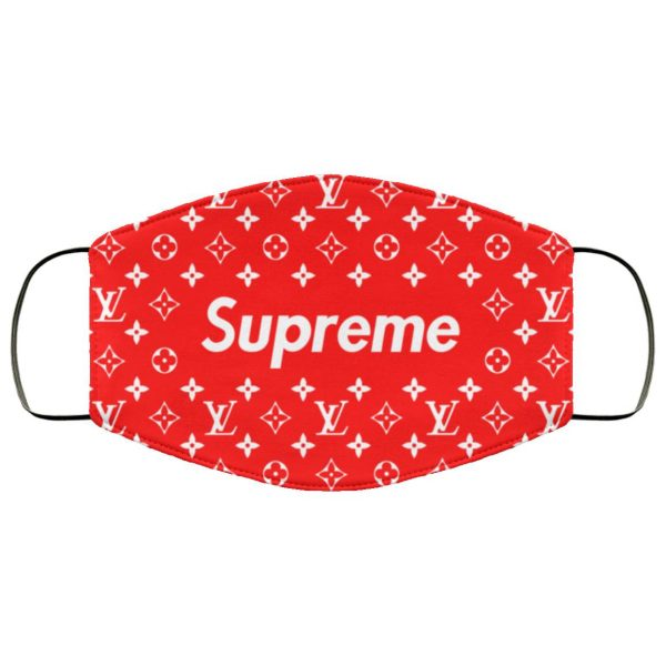 Supreme Louis Vuitton Red face mask