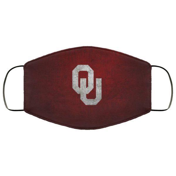 OU Oklahoma Sooners face mask