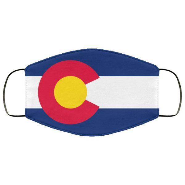 Flag of Colorado face mask