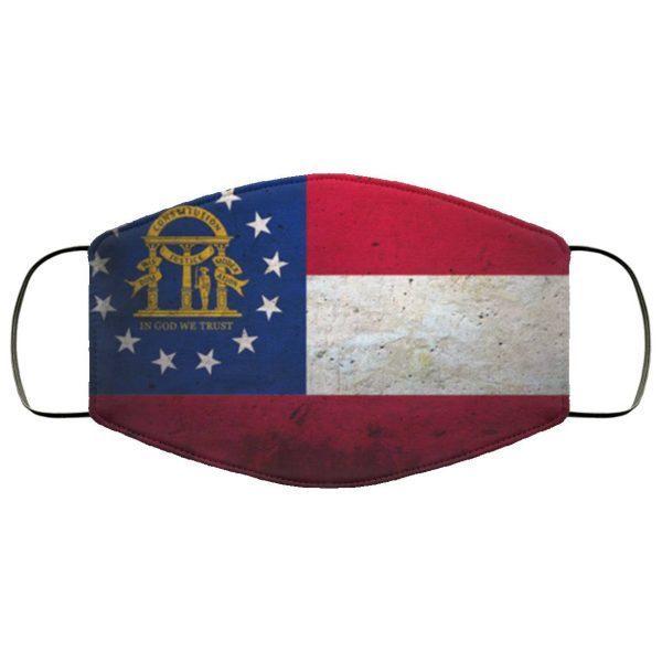 Grunge Flag Of Georgia Cloth Face Mask