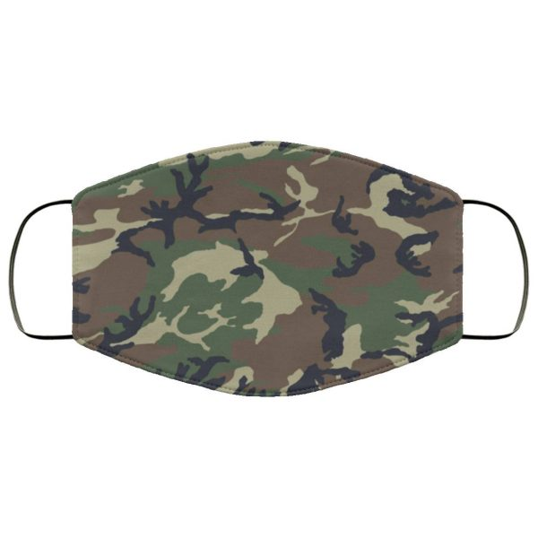 Camo Filter Face Mask Activated Carbon Face Mask