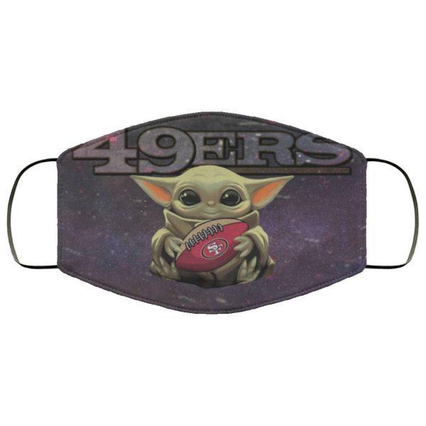 Baby Yoda Hugs San Francisco 49ers Face Mask