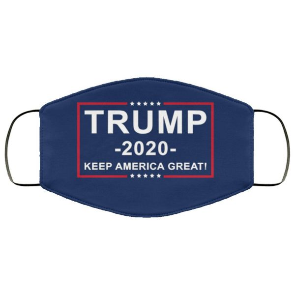 Donald Trump for President 2020 Keep America Great Flag Face Mask