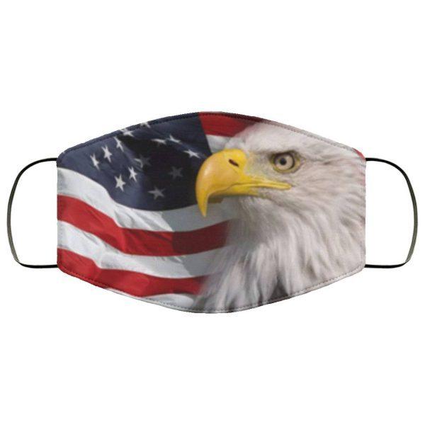 North American Bald Eagle flag Face Mask