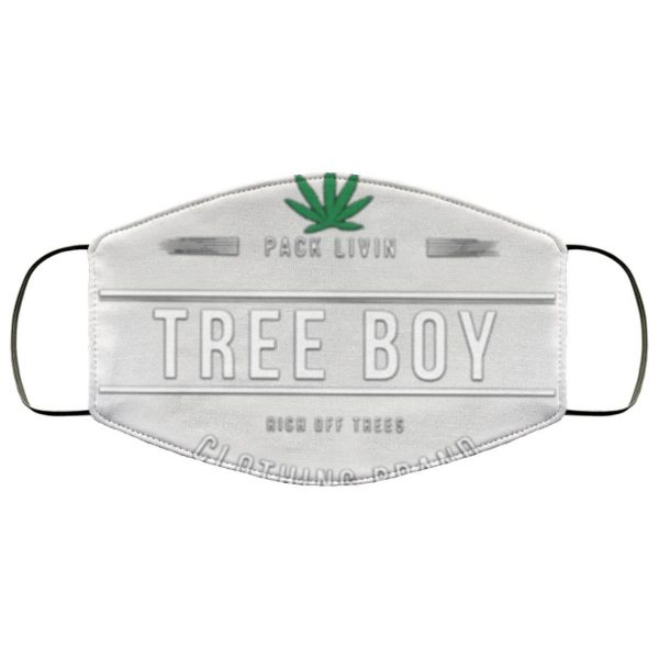 Pack Livin Tree Boy Rich Off Trees Clothing Brand Face Mask