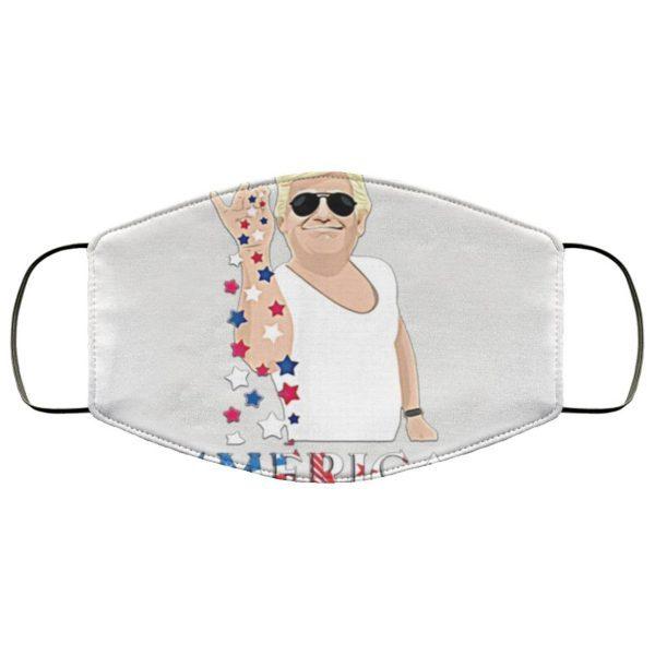 Trump Salt Bae 4th of July Shirt, Funny 4th of July Doanld Trump Salt Merica Face Mask