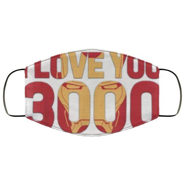 Avengers Endgame Iron Man I Love You 3000 Face Mask
